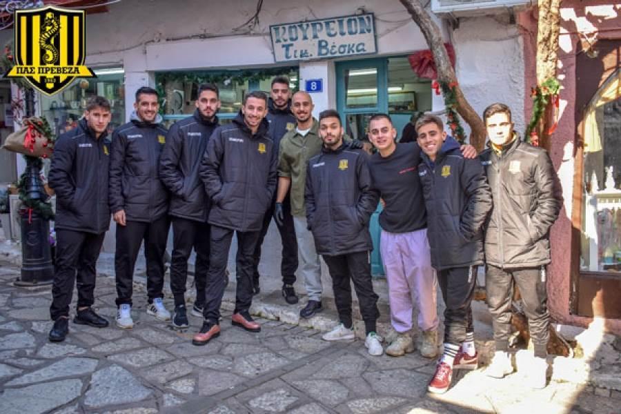 Χορηγική συνεργασία ΠΑΣ Πρέβεζα και VK Barber Shop
